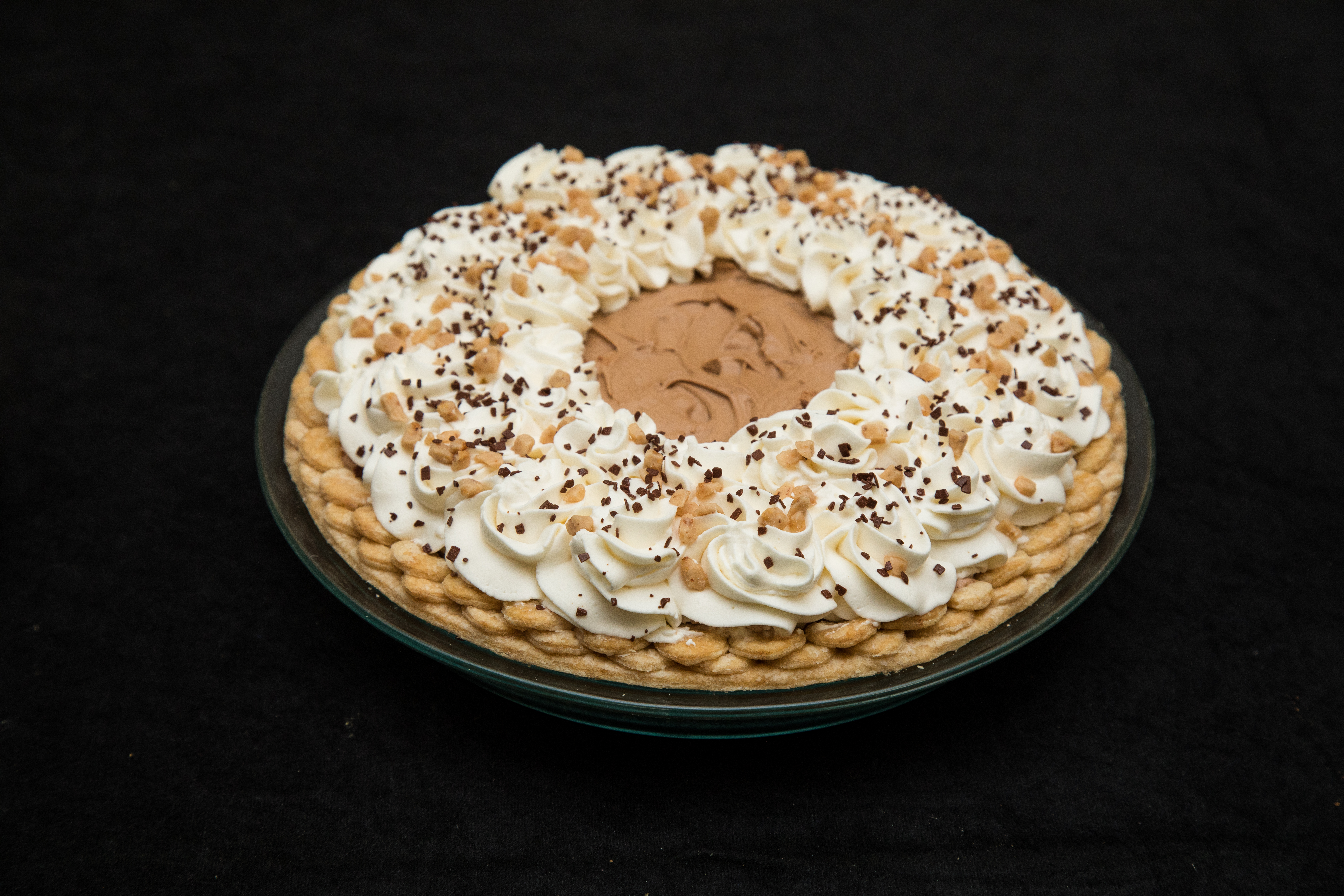 2019 1st Place Amateur Cream, Chocolate Chiffon Freckled Bottomed Pie, Rhonda Hull, Little Rock, AR