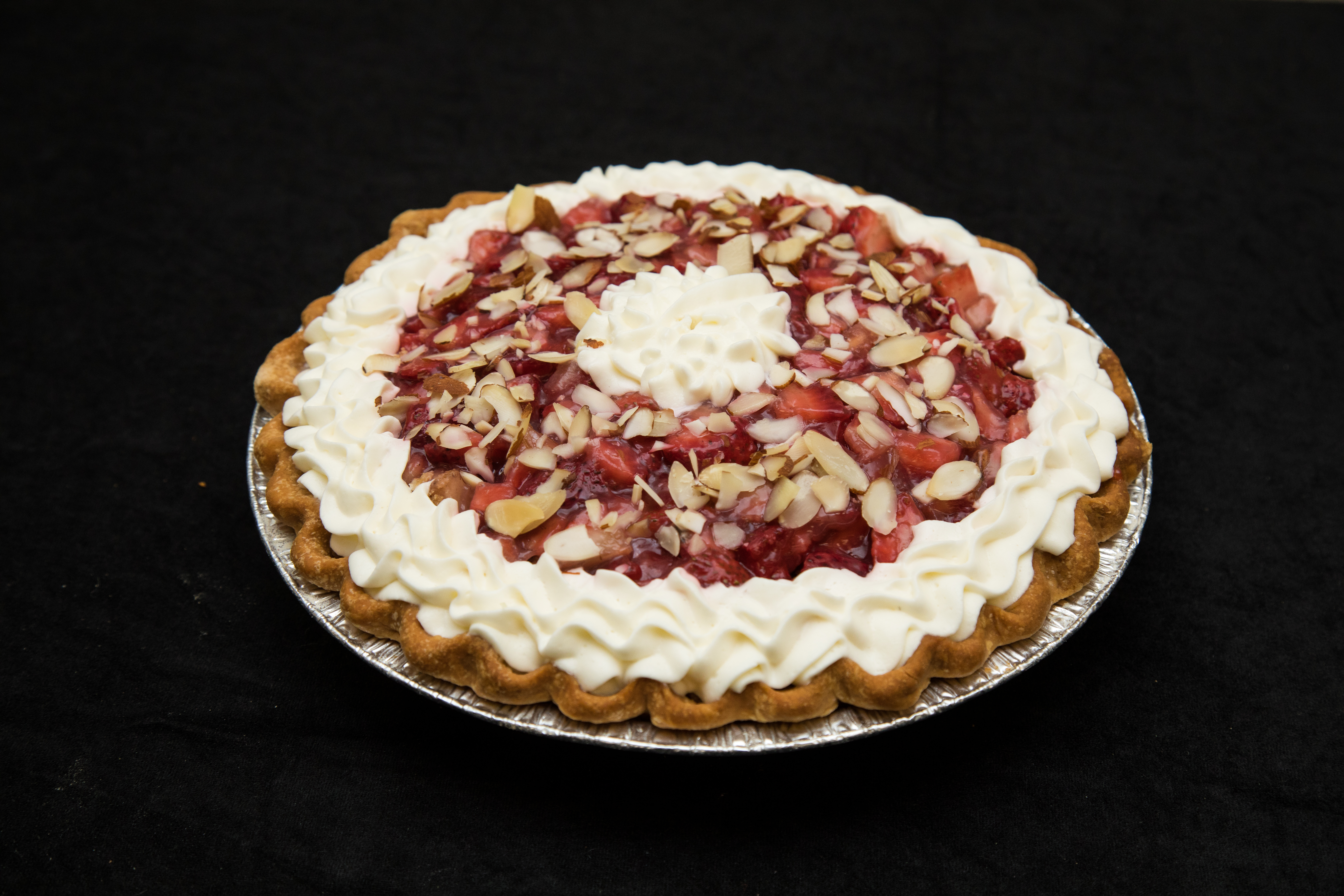 2019 1st Place Amateur Fruit/Berry Rhubarb Pie with a Strawberry Top, David Harper, Lone Rock, WI