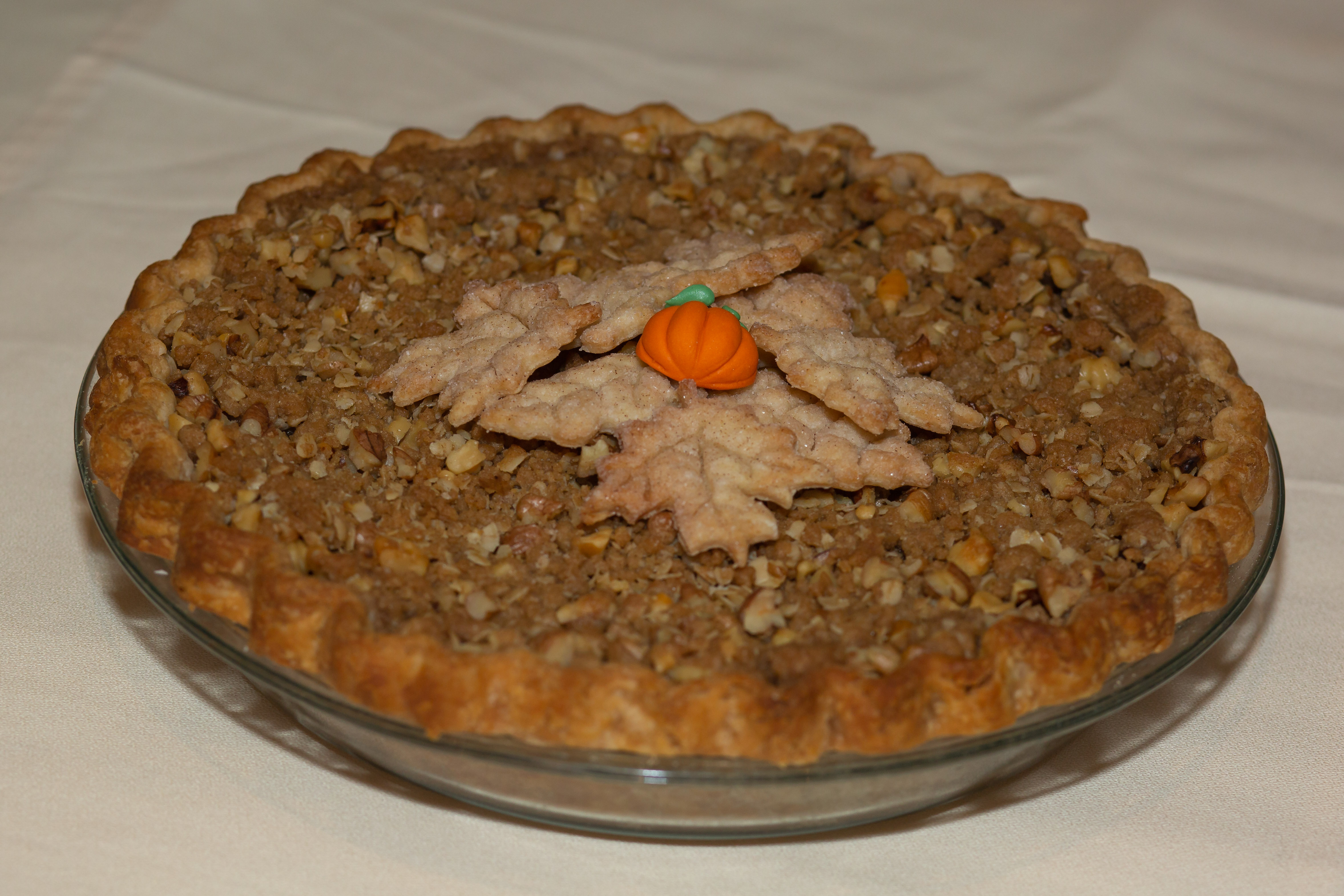 2019 1st Place Amateur Pumpkin, Streusel Topped Pumpkin Pie, Rhonda Hull, Little Rock, AR